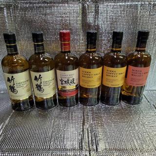 ニッカウイスキー(ニッカウヰスキー)のカフェモルト2本 カフェグレーン1本 宮城峡1本 新竹鶴ピュアモルト2本(ウイスキー)