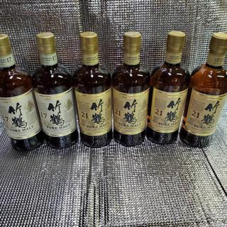 ニッカウイスキー(ニッカウヰスキー)の竹鶴17年700ml 2本 竹鶴21年700ml 4本(ウイスキー)