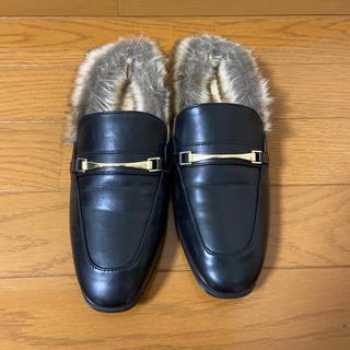 ジーユー(GU)のファー付きシューズ(ローファー/革靴)