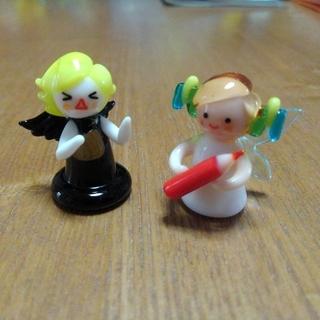 【ぴよりん様専用】 ガラス細工 妖精 & 黒天使 セット