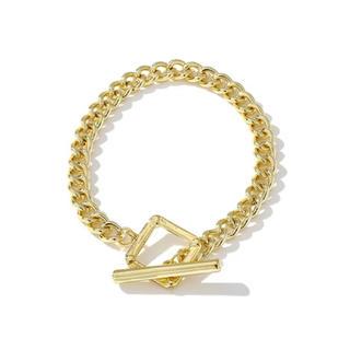 トーガ(TOGA)のSquare chain gold bracelet No.379(ブレスレット/バングル)