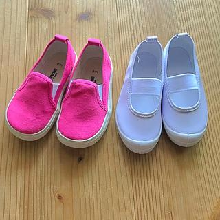 スリッポン 上靴 運動靴 14  15  セット(スクールシューズ/上履き)