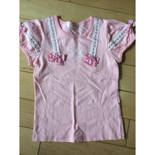 シャーリーテンプル(Shirley Temple)のシャーリーテンプル ハシゴリボン Tシャツ 130 ピンク(Tシャツ/カットソー)