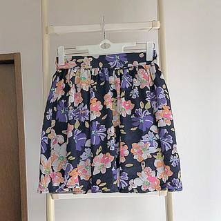 シマムラ(しまむら)の新品花柄スカート(ミニスカート)