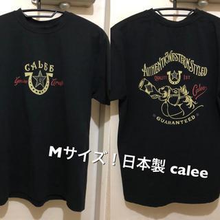 キャリー(CALEE)のMサイズ!日本製 calee  キャリー 古着半袖Tシャツ 黒 概ね良好(Tシャツ/カットソー(半袖/袖なし))