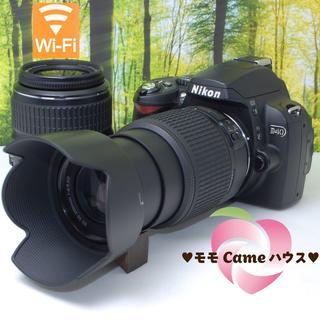 キヤノン(Canon)の【バッグつき】ニコン D40Wレンズセット☆スマホに転送♪884(デジタル一眼)