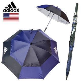 アディダス(adidas)のアディダス ダブルキャノピーUVネイビー137cm新品 ゴルフ傘 晴雨兼用(その他)