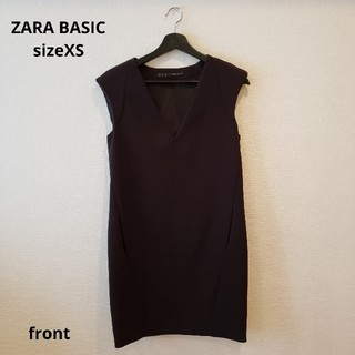 ザラ(ZARA)のZARA BASIC ブラック ワンピース(ミニワンピース)