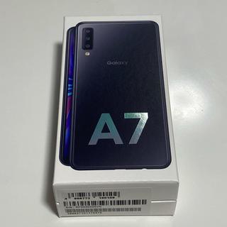 ギャラクシー(Galaxy)のGALAXY A7 ブラック 64GB  新品未開封(スマートフォン本体)