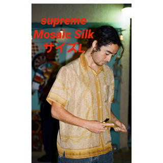 Supreme - supreme Mosaic Silk S/S Shirt サイズL
