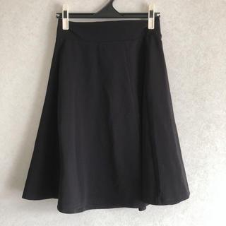 ジーユー(GU)のバックジップスカート(ひざ丈スカート)
