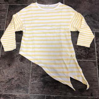 ジーユー(GU)のキッズ ジーユー ボーダー Tシャツ(Tシャツ/カットソー)