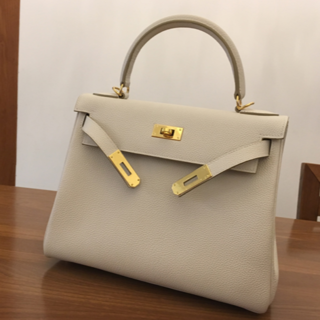 Hermes - エルメスKellyクレケリー28内縫いゴルード金具ハンドバッグ