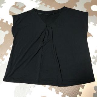 ジーユー(GU)のGU 半袖 レディース 黒 ブラック(シャツ/ブラウス(半袖/袖なし))