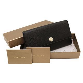 ブルガリ(BVLGARI)のBVLGARI 二つ折り長財布 クラシコ カーフレザー ブラック 黒 A2736(財布)