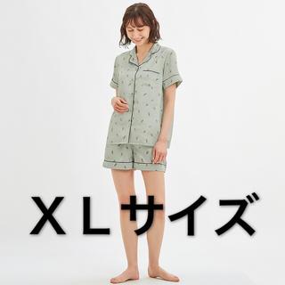 ジーユー(GU)のGU サテンパジャマ アイスクリーム XLサイズ ライトグリーン ミント 新品(パジャマ)
