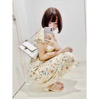 韓国 花柄 セクシー ロングワンピース(ロングワンピース/マキシワンピース)