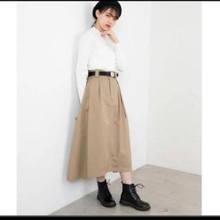 ウィゴー(WEGO)のロングスカート ウィゴー チノベルト付タックロングスカート(ロングスカート)
