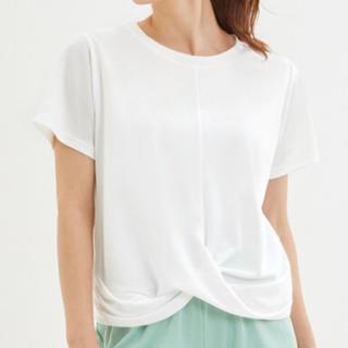 ジーユー(GU)の【新品】GUアクティブ フロントツイスト 半袖Tシャツ M(Tシャツ(半袖/袖なし))