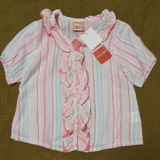 ウィルメリー(WILL MERY)の110㌢ ウィルメリー フリルブラウス カーディガン 綿100% (Tシャツ/カットソー)