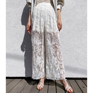 Ameri VINTAGE - アメリ ヴィンテージ MEDI EMBROIDERY TULLE PANTS