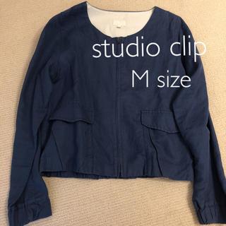 スタディオクリップ(STUDIO CLIP)の《値下げ》studio  clip ノーカラージャケット(ノーカラージャケット)