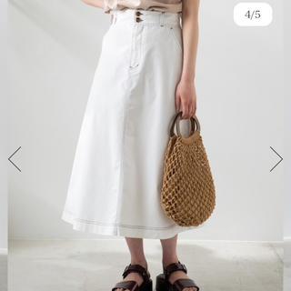 ウィゴー(WEGO)のWEGO★チノサーキュラーミモレスカート★白Sサイズロングスカート(ロングスカート)