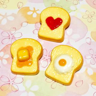 トーストのブローチ♡3点セット♪*。(コサージュ/ブローチ)