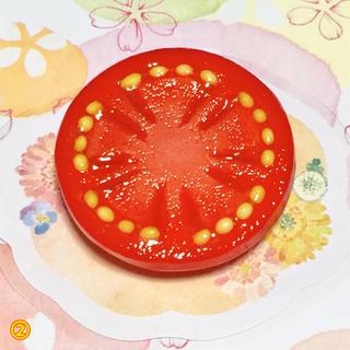 トマトのブローチ♡*。(コサージュ/ブローチ)