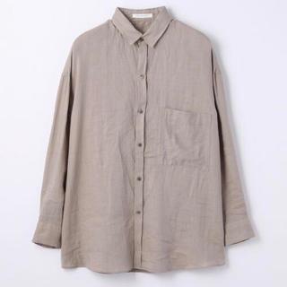 TOMORROWLAND - GALERIE VIE リネン オーバーサイズドシャツ グレージュカラー