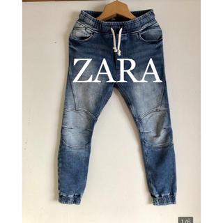 ザラ(ZARA)のZARA スウェットデニムジョガーパンツ!ジョグジーンズ!(デニム/ジーンズ)