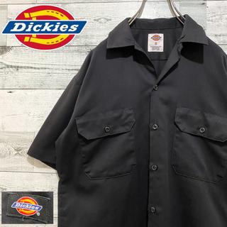 Dickies - 【人気】ディッキーズ☆ロゴタグ ブラック 半袖シャツ ワークシャツ