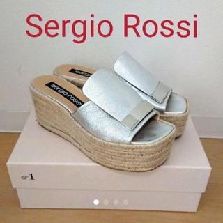 セルジオロッシ(Sergio Rossi)のセルジオロッシ ウェッジサンダル シルバー(サンダル)