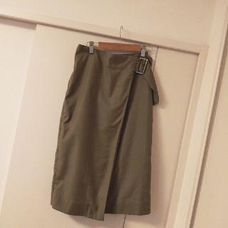 ディスコート(Discoat)のDiscoat カーキ ラップスカート(ひざ丈スカート)