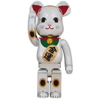 メディコムトイ(MEDICOM TOY)のBE@RBRICK 招き猫 銀メッキ 弐 1000%(その他)