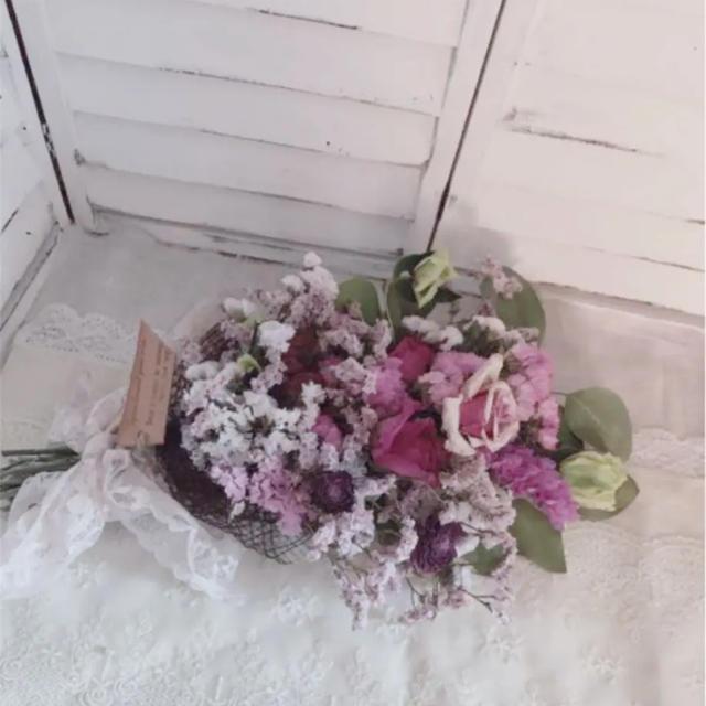 即購入ok ドライフラワー可愛い薔薇スワッグp4 ハンドメイドのフラワー/ガーデン(ドライフラワー)の商品写真