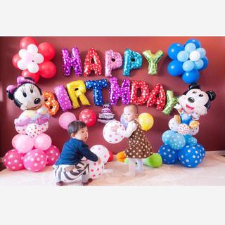 ミッキーミニーの立体 誕生日バルーンセット♡文字カラー変更可♡送料無料(その他)