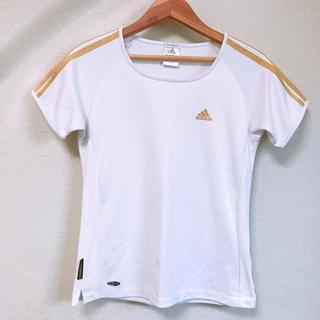アディダス(adidas)のadidas アディダスTシャツ ゴールドライン(トレーニング用品)