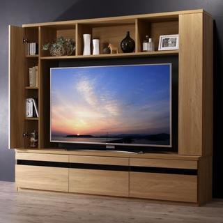 テレビ台180cm 55インチ対応 壁面収納 ハイタイプ テレビボード TV台(リビング収納)