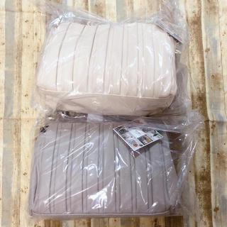 シマムラ(しまむら)のしまむら mumu プリーツショルダーバッグ  グレージュ ホワイト 2セット(ショルダーバッグ)