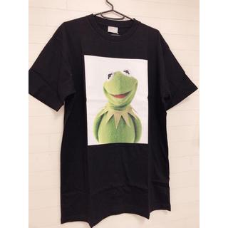 ディズニー(Disney)の新品 L/ディズニー マペッツ カーミット ブラック プリントTシャツ(Tシャツ/カットソー(半袖/袖なし))