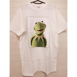 ディズニー(Disney)の新品 L/マペッツ カーミット プリントTシャツ ホワイト(Tシャツ/カットソー(半袖/袖なし))