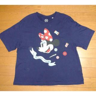 ディズニー(Disney)のディズニー ミニーちゃんのTシャツ サイズL <c007>(Tシャツ(半袖/袖なし))