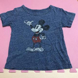 Disney - Disney ミッキー Tシャツ110 ヴィンテージ  ディズニー 霜降り 綿