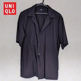 UNIQLO - UNIQLO オーバーサイズ半袖シャツ 黒