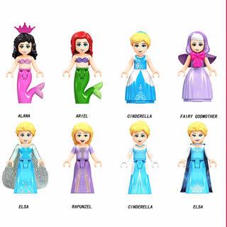 プリンセス 8体セット! レゴ LEGO レゴ互換