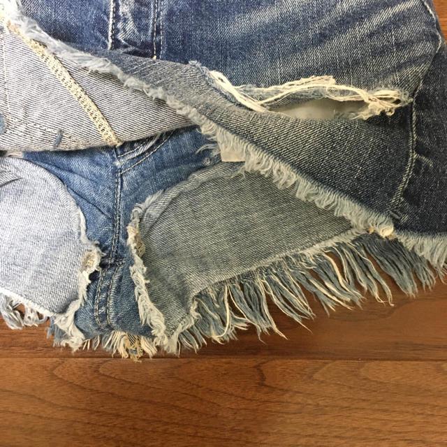 GYDA(ジェイダ)のGYDAスカート 付きデニムショートパンツXS レディースのパンツ(ショートパンツ)の商品写真
