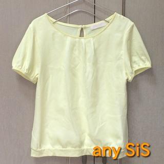 エニィスィス(anySiS)の【any SiS】レーストップス 半袖 イエロー 2 Mサイズ オンワード(Tシャツ(半袖/袖なし))