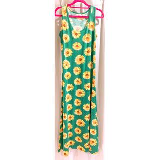 サルース(salus)のサマードレス ワンピース タンクトップ ノースリーブ(ロングワンピース/マキシワンピース)