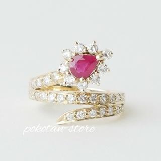 PonteVecchio - 美品【ポンテヴェキオ】K18YG  ダイヤモンド×ルビー リング